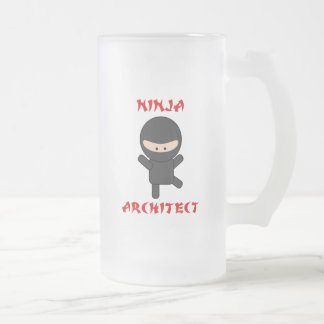 arquitecto del ninja taza de cristal