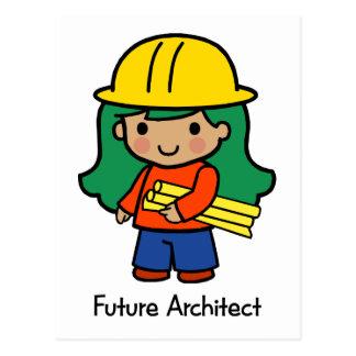 Arquitecto futuro - chica tarjeta postal
