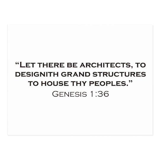Arquitecto/génesis Tarjeta Postal