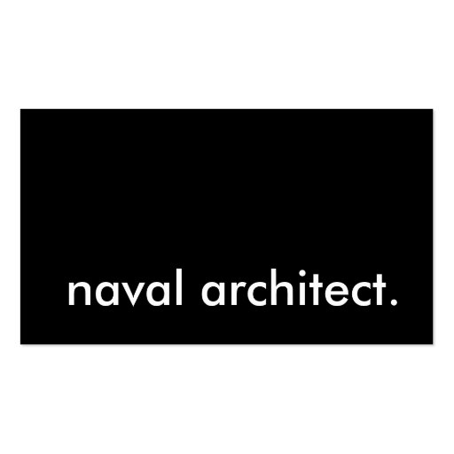 arquitecto naval tarjetas de visita