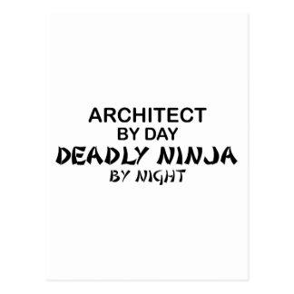 Arquitecto Ninja mortal por noche Postal