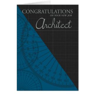 Arquitecto - nuevo trabajo - elegante con el papel tarjeta de felicitación