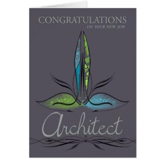 Arquitecto - nuevo trabajo - elegante con tarjeta de felicitación