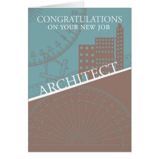 Arquitecto - nuevo trabajo - herramientas del tarjeta de felicitación
