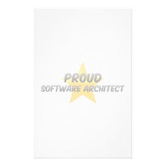 Arquitecto orgulloso del software papeleria personalizada