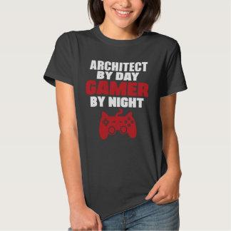Arquitecto por videojugador del día por noche polera