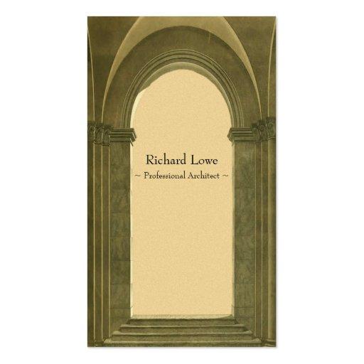 Arquitecto profesional - arco clásico tarjeta personal
