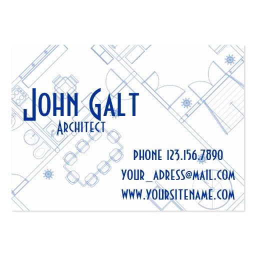 Arquitecto profesional elegante plantillas de tarjetas de visita