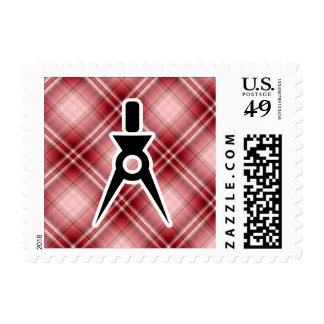 Arquitecto rojo de la tela escocesa envio