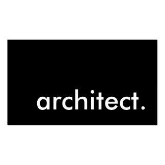 arquitecto tarjeta personal