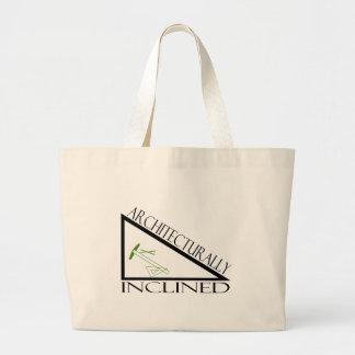 Arquitectónico inclinado bolsas lienzo