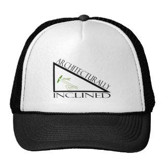 Arquitectónico inclinado gorras