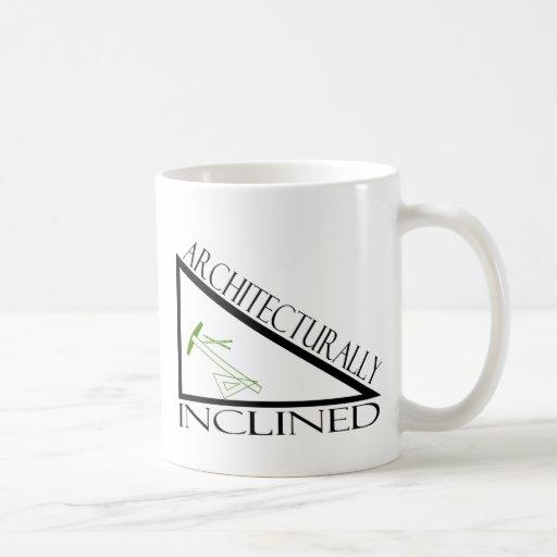 Arquitectónico inclinado taza de café