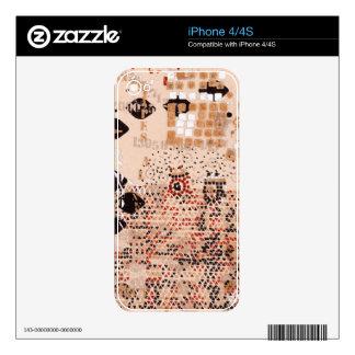 Arquitectónico rosado skins para eliPhone 4