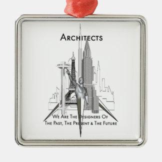 Arquitectos Adorno Navideño Cuadrado De Metal
