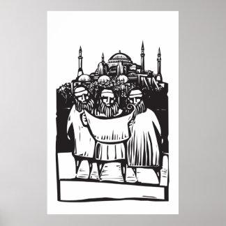 Arquitectos y mezquita póster