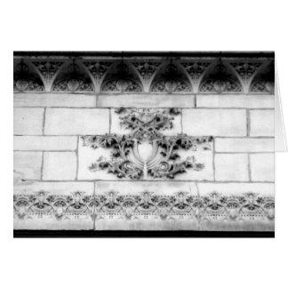 Arquitectura 18 del Casa-Vintage del arte del Note Tarjeta Pequeña