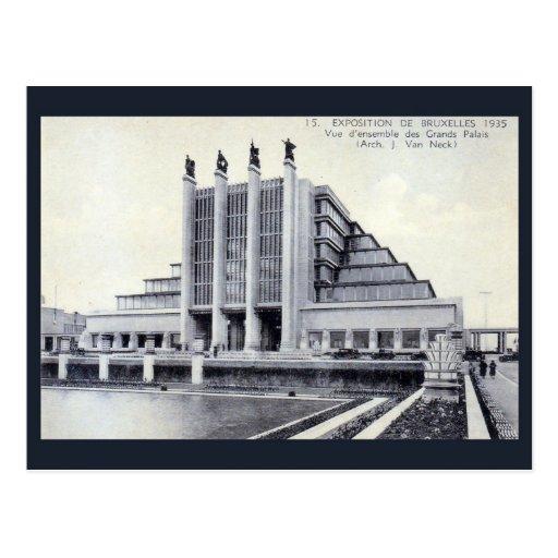 Arquitectura 1935 del art déco de Bruselas de la Postal