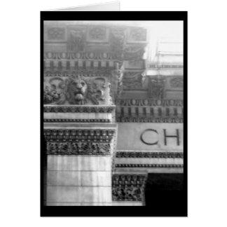 Arquitectura 2 del Casa-Vintage del arte del Notec Tarjeta Pequeña