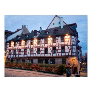 """Arquitectura alemana invitación 6.5"""" x 8.75"""""""