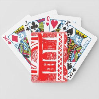 Arquitectura antigua roja baraja cartas de poker