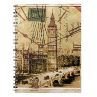 arquitectura británica Londres ben grande del vint Libros De Apuntes Con Espiral