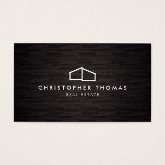 Arquitectura casera moderna del logotipo, madera tarjeta de negocios