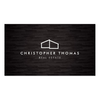 Arquitectura casera moderna del logotipo, tarjetas de visita