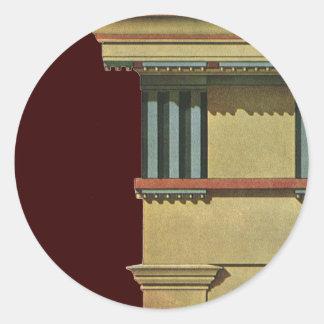 Arquitectura clásica del vintage, Entablature del Pegatina Redonda