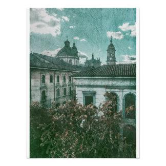 Arquitectura colonial en el centro histórico de cojinete