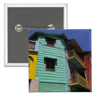 Arquitectura colorida de la vecindad de Boca del L Pin Cuadrado