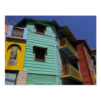 Arquitectura colorida de la vecindad de Boca del L Tarjetas Postales