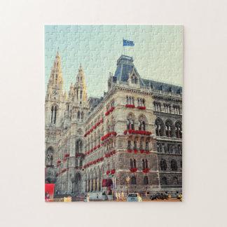 Arquitectura de ayuntamiento de Wien Rompecabeza Con Fotos