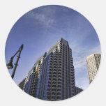 Arquitectura de Boston céntrica Pegatina Redonda