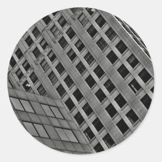 Arquitectura de la oficina en la diagonal etiqueta redonda