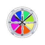 Arquitectura de la rueda del vintage reloj