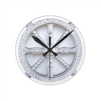 Arquitectura de la rueda del vintage relojes de pared