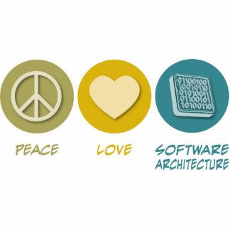 Arquitectura de los programas del amor de la paz escultura fotografica