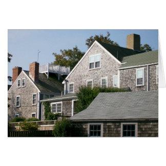 Arquitectura de Nantucket Tarjeta De Felicitación