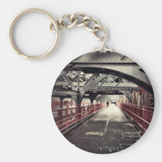Arquitectura de New York City - puente de Llavero Redondo Tipo Pin