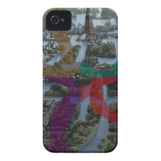 Arquitectura de paisaje de la improvisación de iPhone 4 Case-Mate protectores