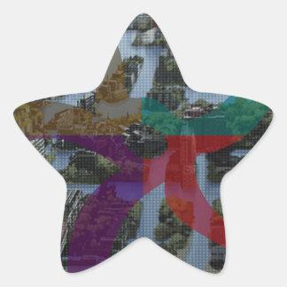 Arquitectura de paisaje de la improvisación de pegatina en forma de estrella