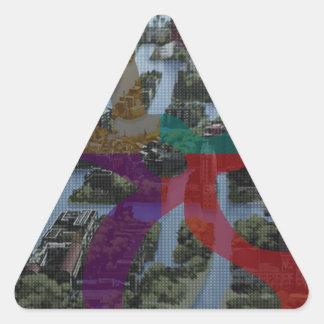 Arquitectura de paisaje de la improvisación de pegatina triangular