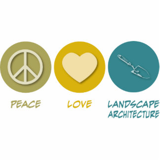 Arquitectura de paisaje del amor de la paz esculturas fotográficas