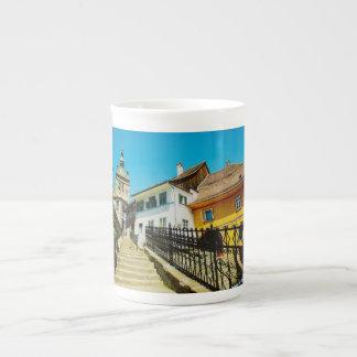 Arquitectura de Sighisoara Taza De Porcelana