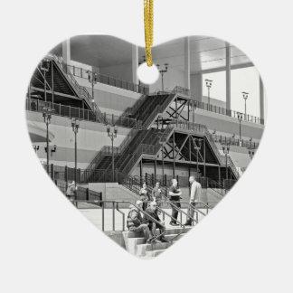 Arquitectura del acueducto adorno de cerámica en forma de corazón