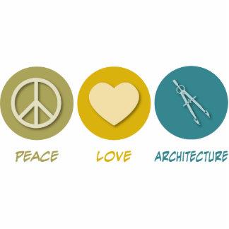Arquitectura del amor de la paz esculturas fotográficas