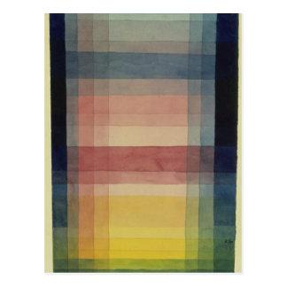 Arquitectura del llano de Paul Klee Postal