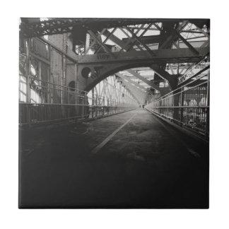 Arquitectura del puente de Williamsburg - New York Azulejo Cuadrado Pequeño