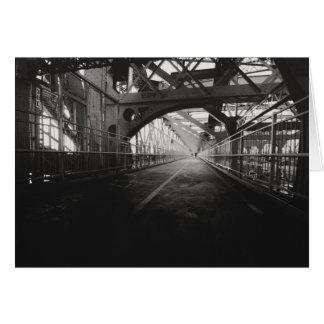 Arquitectura del puente de Williamsburg - New York Tarjeta De Felicitación